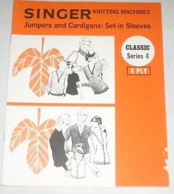 singer knitting machine pattern book series 4 from ...
