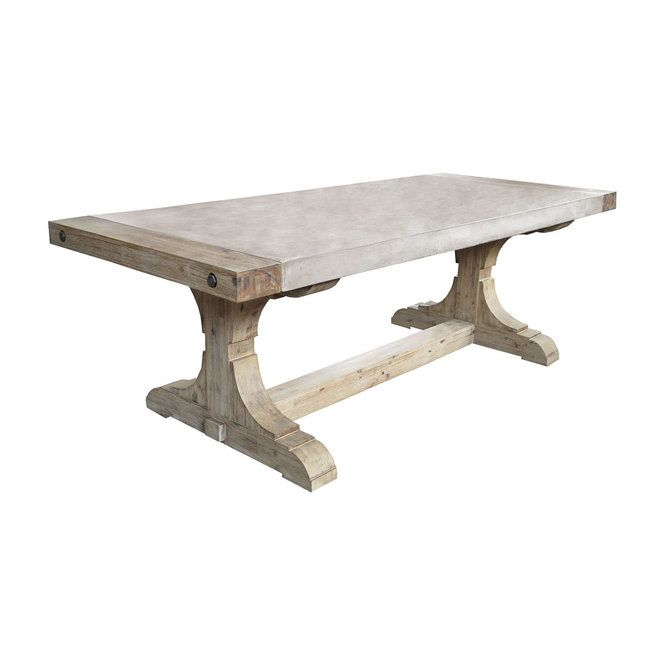 Concrete and Wood Dining Table gray_natural