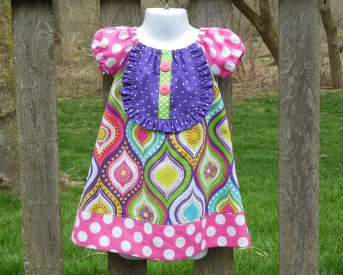 Boutique Handmade Girls Toddlers Peasant Dress Sewing idea