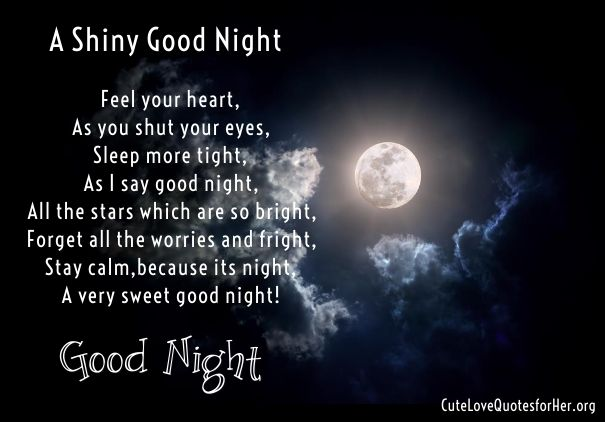 Short Good Night Poems For Her Lover