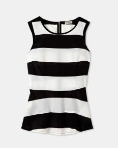 Striped peplum top only at Smart Set