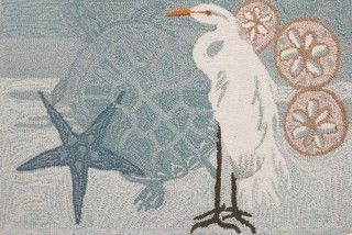 Coastal Egret Rug - transitional - rugs - by Homefires