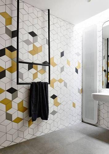Trend We Love: Geometric Falling Block Tile. Decorative Wall TilesTile  BathroomsFunky ... Part 51