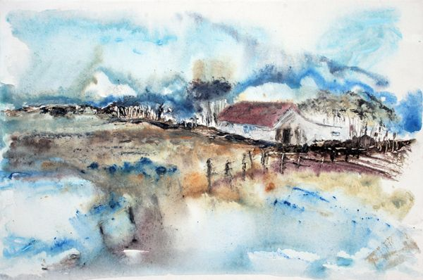 """""""Farm Cottage"""" by Melanie Meyer from her Emergence Art Gallery in Cape Town"""