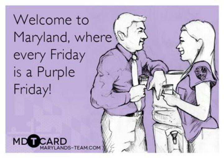 Purple Friday! Baltimore Ravens baby.