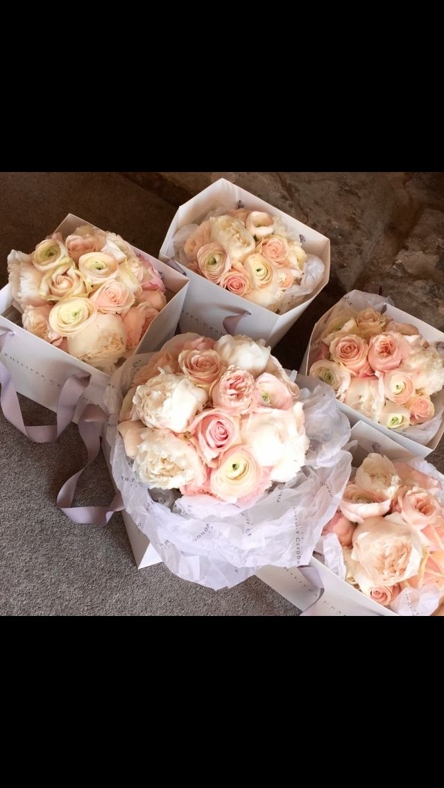 The Bouquets! Designed by the wonderful Philippa Craddock.