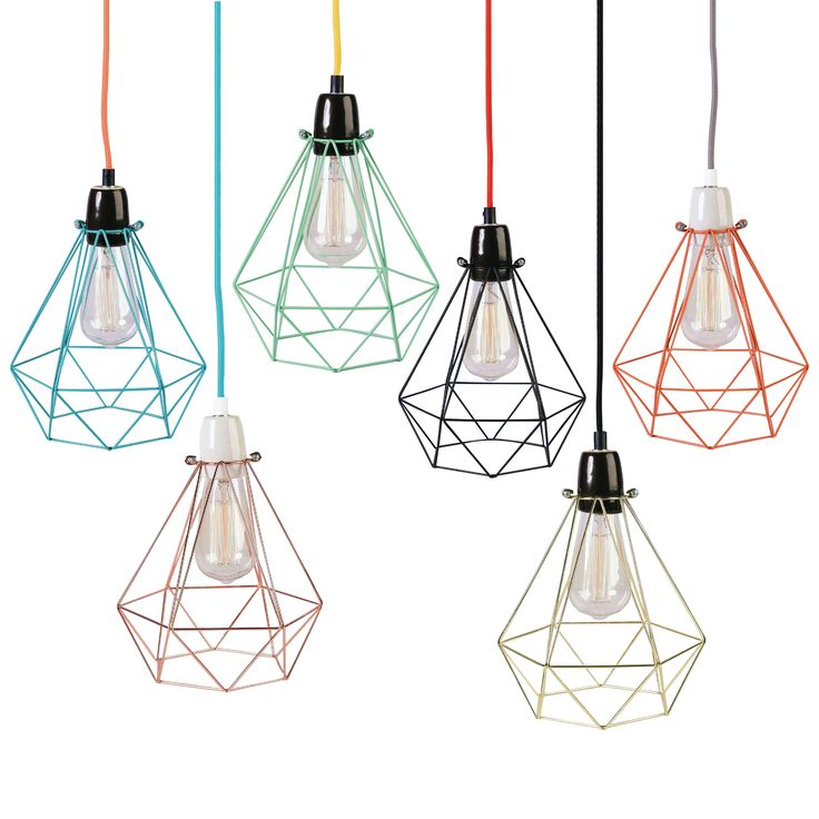 DIAMOND 1 - Lampe baladeuse Cuivre câble Bleu Ø18cm Filamentstyle