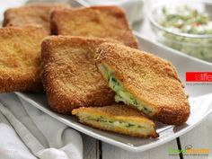 Zucchine cremose in carrozza, finger food  #ricette #food #recipes