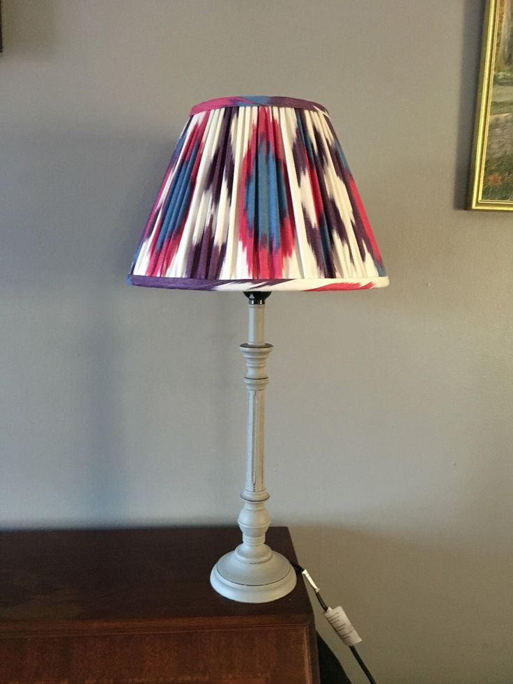 8 best beautiful hand sewn luxurious lampshades images on pinterest gathered pleated elegant and luxurious hand sewn 12 lamp shade purple pink and blue ikat fabric aloadofball Images