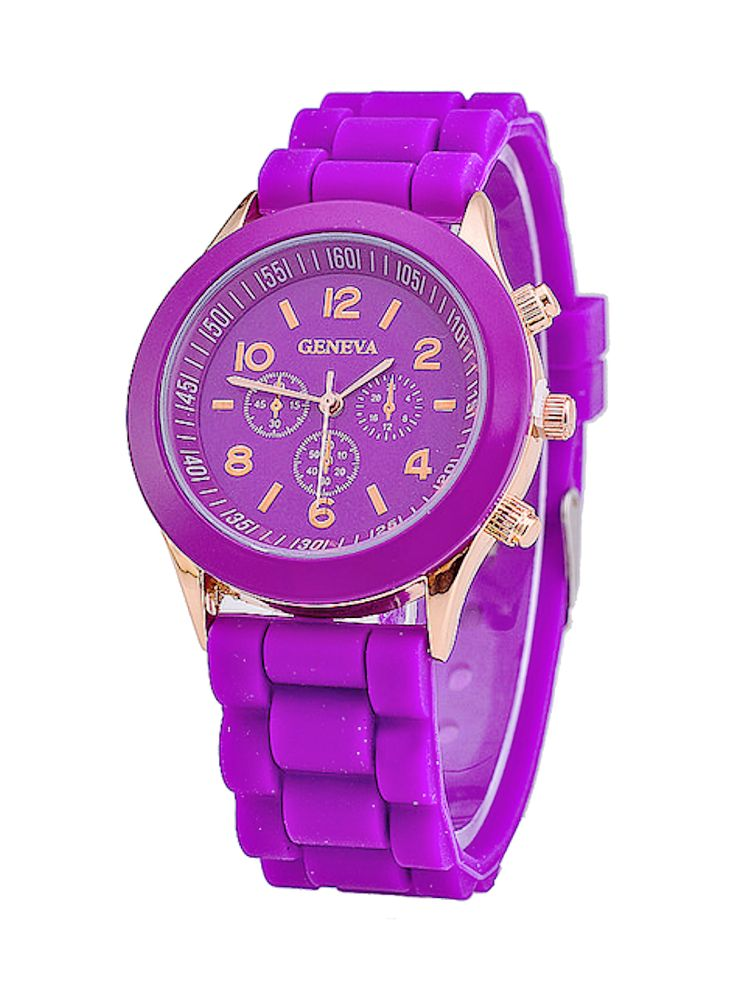 Coloured Candy – Geneva Horloge Siliconen Paars
