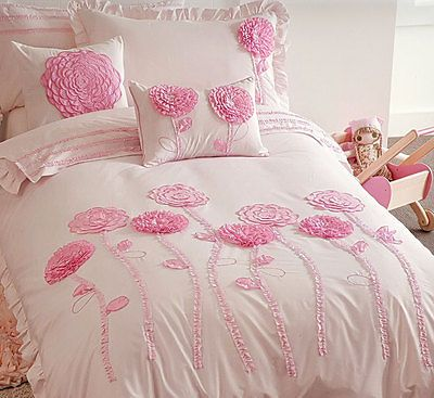 #Floret pink bedding quilt #cover set #doona duvet girls kids floral flowers luxu,  View more on the LINK: http://www.zeppy.io/product/gb/2/182206489752/