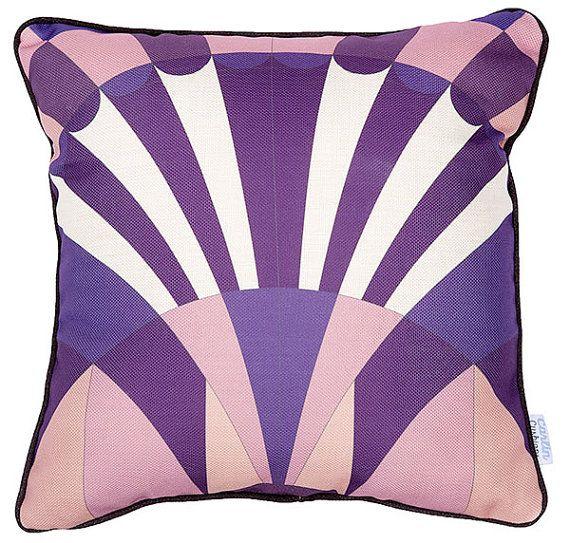 Carlin Cushions Purple Art Deco Cushion Cover
