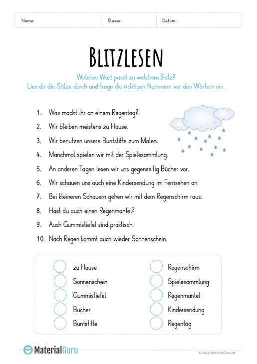 blitzlesen materialguru seepferdchenklasse lese bungen deutsch lesen und deutsch unterricht. Black Bedroom Furniture Sets. Home Design Ideas