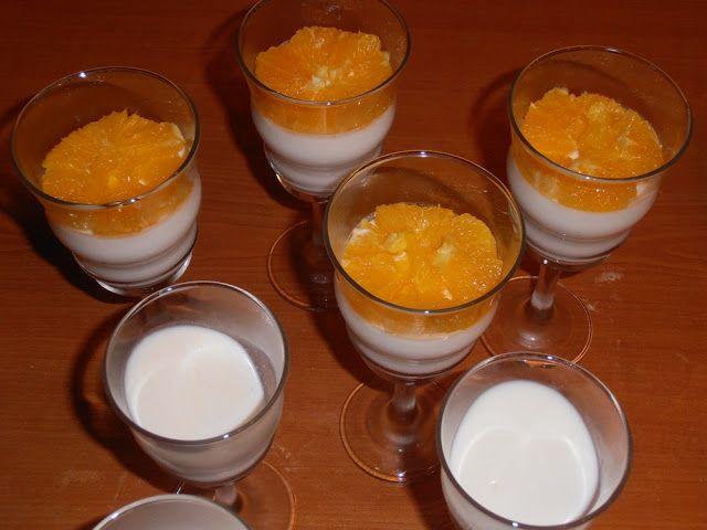 Panna Cotta cu jeleu de portocale