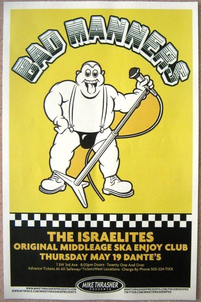 Bad manners concert tour dates