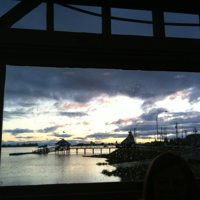 The Flying Beaver Restaurant View of the Fraser River Richmond Vancouver