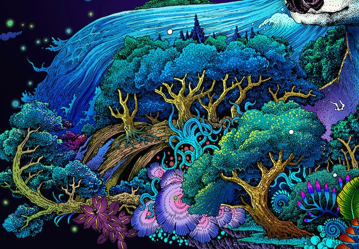 Vivid Illustrations Depict Dynamic Scenes of Nature and East Asian Mythology - My Modern Met