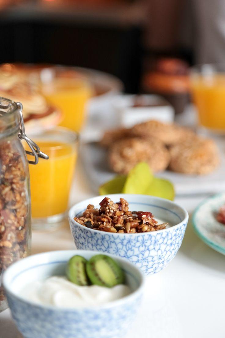 Un petit déjeuner avec Hinalys, instagrameuse food + recette pancake myrtille et brioche au potimarron