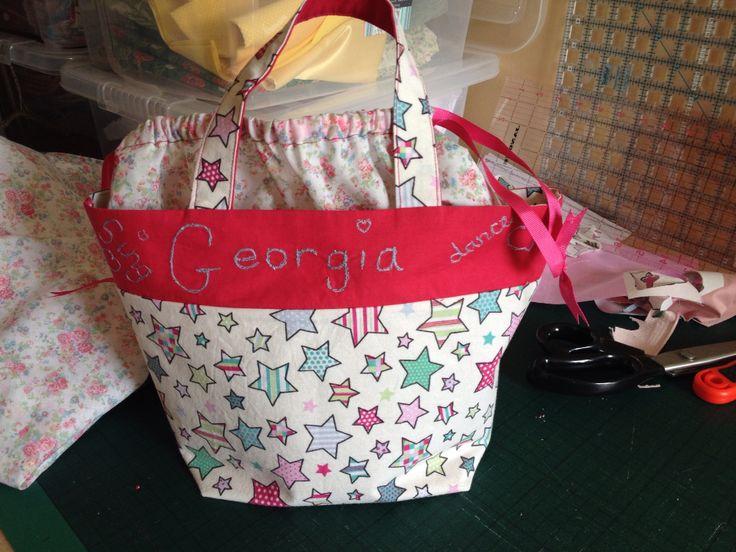 Machine free motion..little bag for Georgie