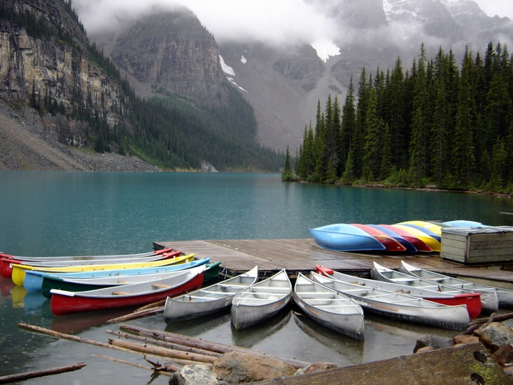 Moraine Lake, #Canada - Canoe & #Kayaking