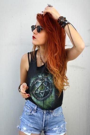 Glam rock: Cabelos coloridos | Vestido do Dia