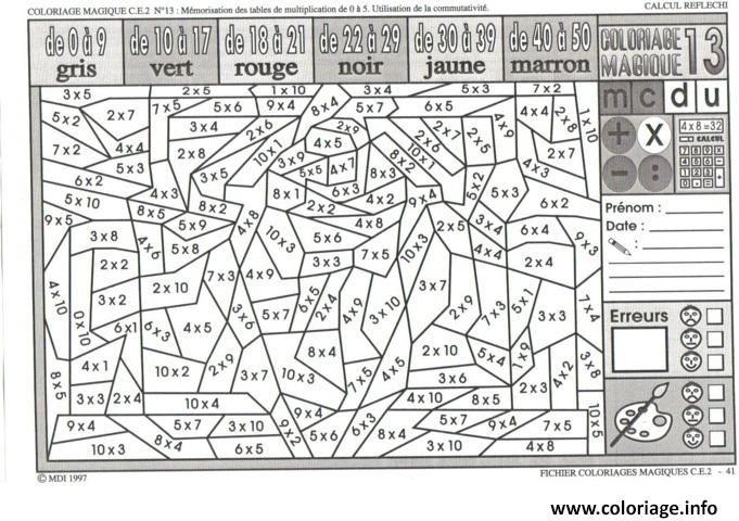 25 Coloriage Magique Pour Adulte Beau Bathroom Multiplication
