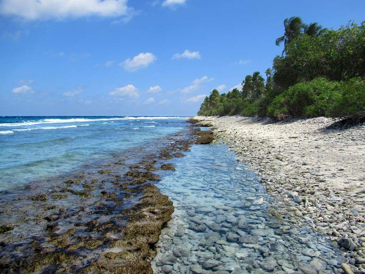 This untouched beach in the Eydhigali Kilhi and Koattey Natural Protected Area is at the north end of Addu Atoll in the Maldives.