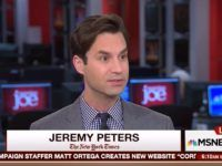 "On Monday's broadcast of MSNBC's ""Morning Joe,"" New York Times reporter Jeremy Peters …"