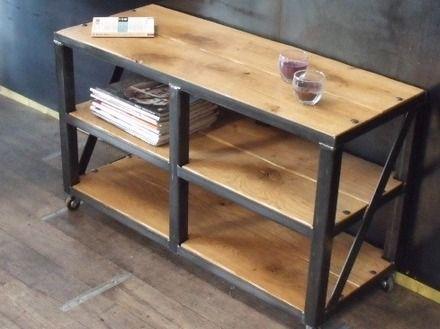 17 best ideas about etagere bois et metal on pinterest. Black Bedroom Furniture Sets. Home Design Ideas