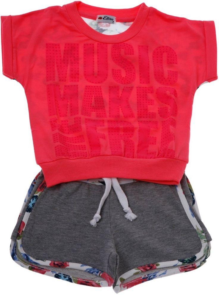 Εβίτα παιδικό σετ μπλούζα-παντελόνι σορτς «Music» - Παιδικά ρούχα AZshop.gr