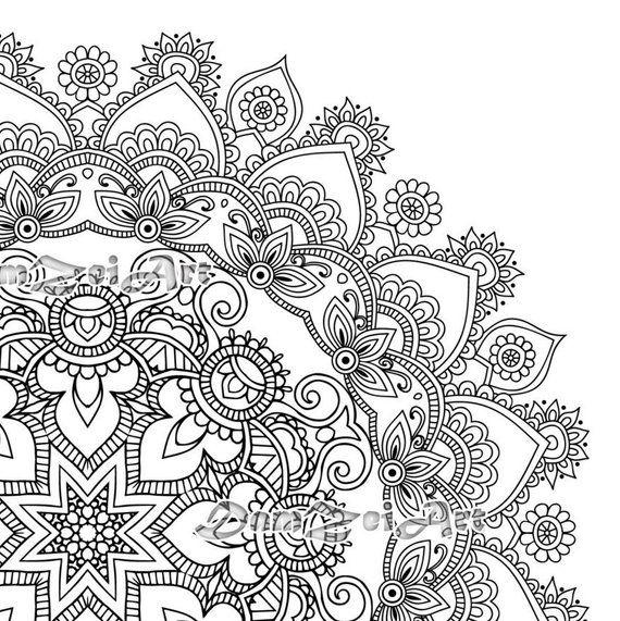 Mandala Coloring Pages Printable Pdf Blank Mandala Designs Etsy Mandala Coloring Mandala Coloring Pages Designs Coloring Books