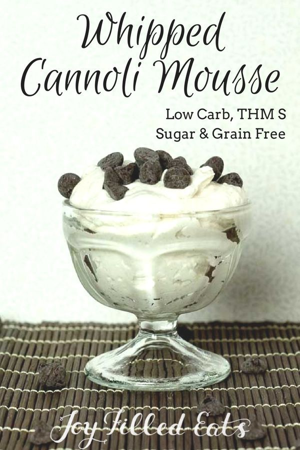 This Whipped Cannoli Mousse is a light and fluffy version of cannoli cream. It has a hint of cinnamon mixed into sweetened ricotta whipped cream. It has only five ingredients & is ready to eat in five minutes! Low Carb & Sugar Free. via @joyfilledeats