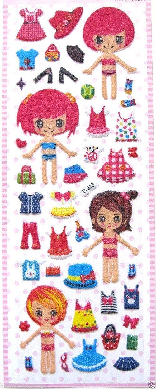 Love Girl Princess Dress Up Clothes Vinyl Sticker Decor Kid Party Toy Gift Japan | eBay