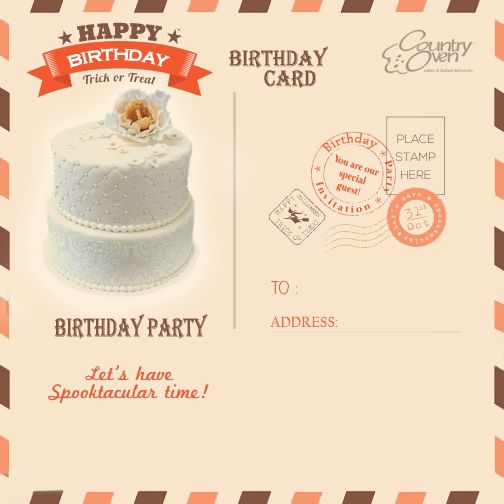 Surprise your buddies by sending a special #birthdaycake through online @ CountryOven.