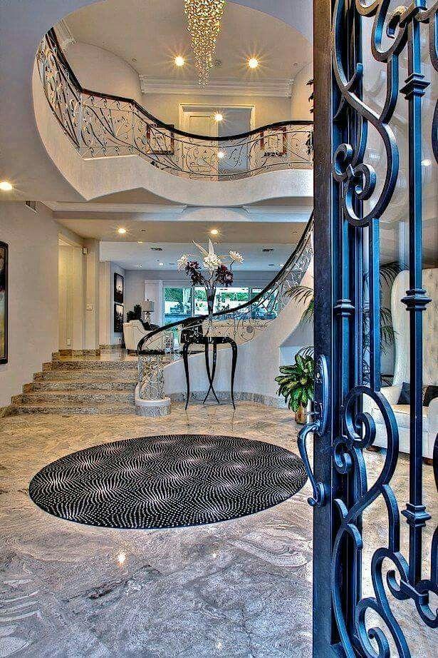luxury mansion foyer in beverly hills