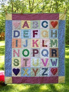 ABC quilt..I want to make one for my kids.