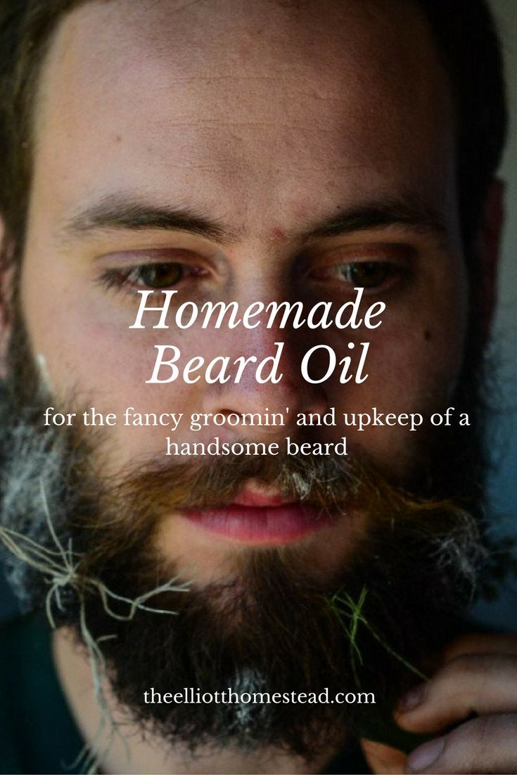 Homemade Beard Oil www.theelliotthomestead.com
