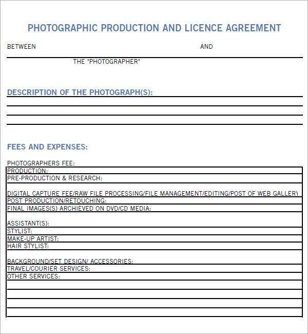 36 best Photography Contracts images on Pinterest Appliques - production contract template