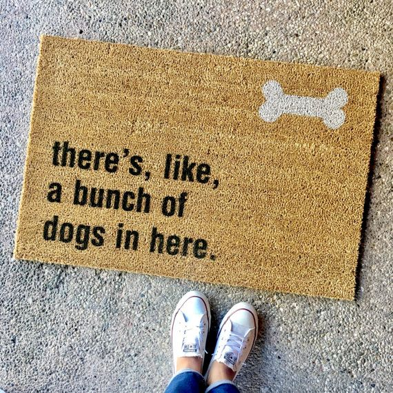the bunch of dogs in here doormat gift for by theCHEEKYdoormat