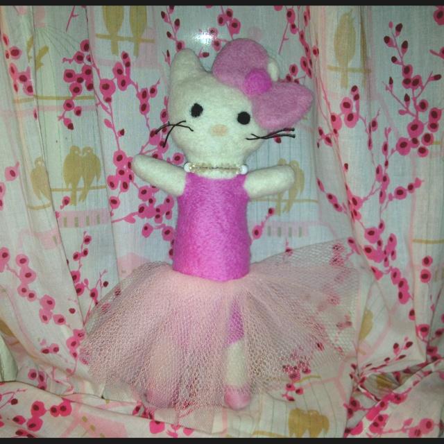 Needle Felted Ballet Hello Kitty