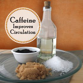 Combine 1/4 coffee, 1/4 sea salt, 1/4 brown sugar, and 1/4 olive oil into a jar and put it in the bathroom. Use the scrub in the shower 2-3 times a week for anti-cellulite