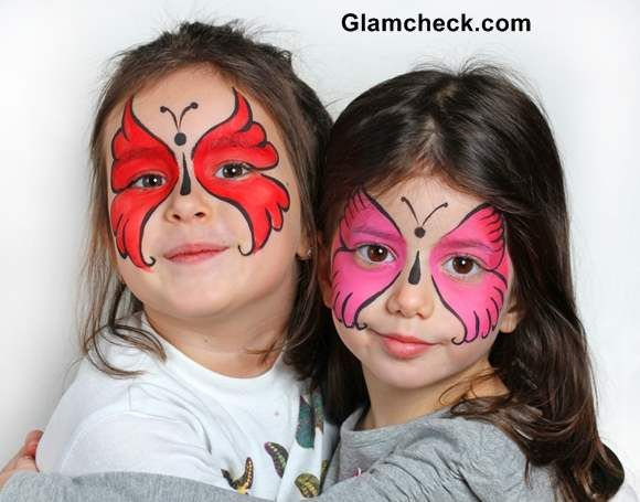 Halloween costume makeup for kids -Butterfly