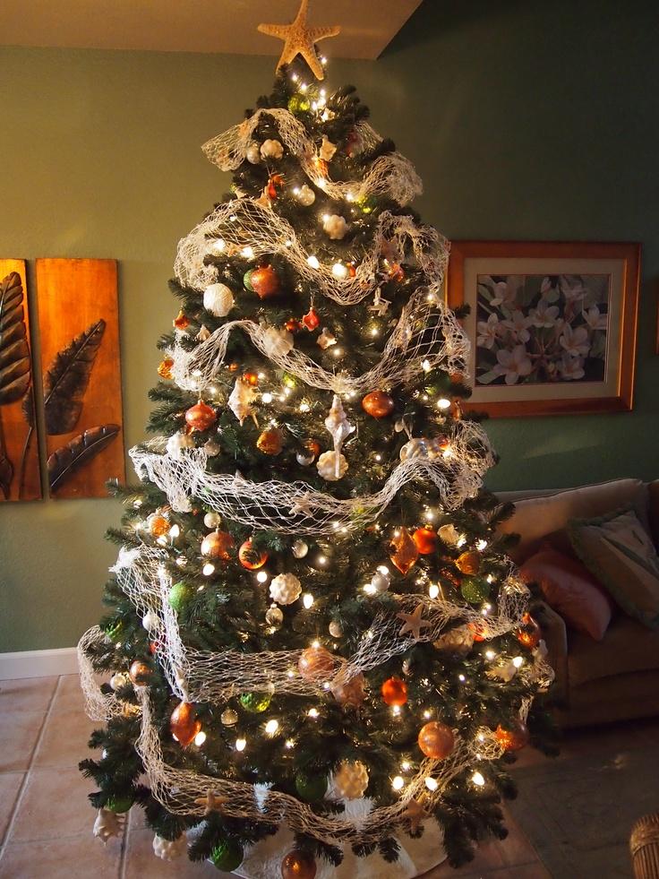 My tropical beach style Christmas tree