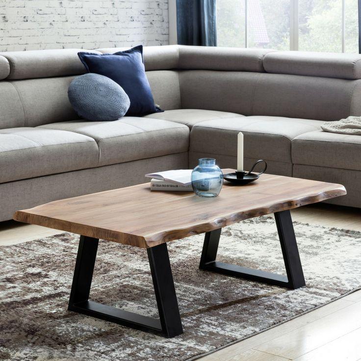 Couchtisch Akazie Massivholz Pinol In 2020 Wohnzimmertisch Couchtisch Sofa Tisch