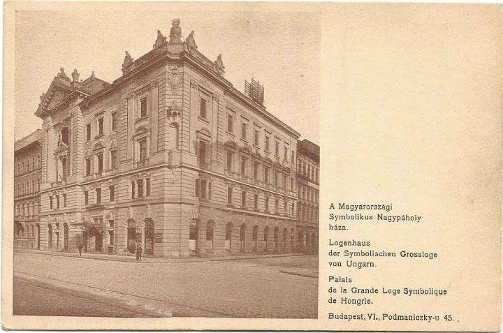 A Magyarországi Symbolikus Nagypáholy háza / House of Symbolic Grand Lodge of Hungary.
