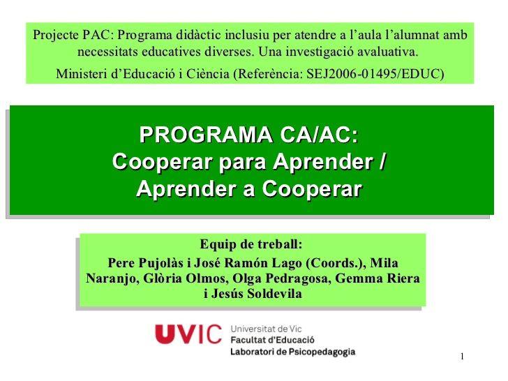 Programa ca ac-zaratamo-mayo-2010- by Irene Gonzalez via slideshare