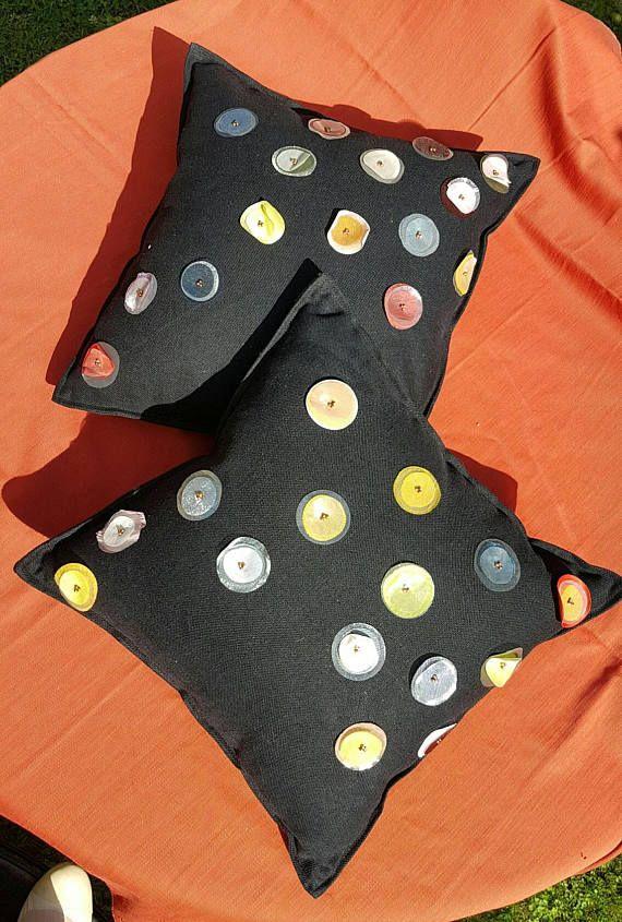 Guarda questo articolo nel mio negozio Etsy https://www.etsy.com/it/listing/547141417/elegante-cuscino-in-cotone-antracite