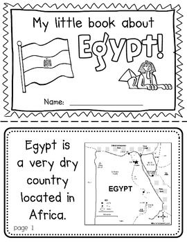 Egypt Booklet (A Country Study!)-- Use during social studies units about countries around the world! TeachersPayTeachers