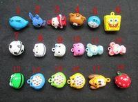 24 pz/borsa mini fumetto piccolo rame campane circa 20mm fit festival & decorazione della festa nuziale 18 tipi di disegno opzionale 3128