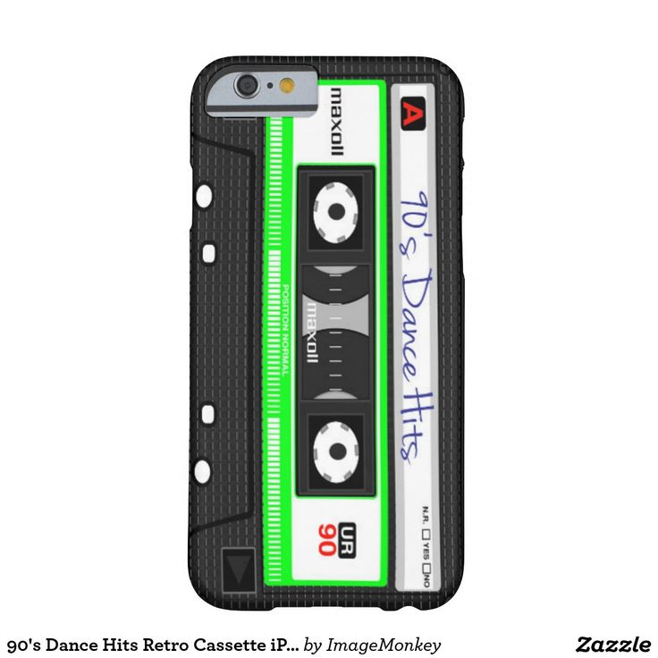 90's Dance Hits Retro Cassette iPhone Case Barely There iPhone 6 Case